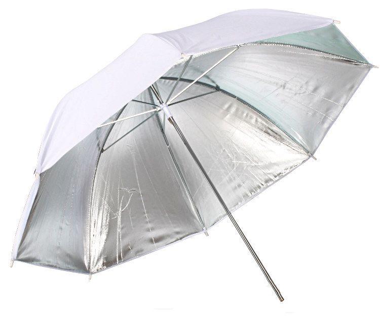 Zestaw oświetleniowy studyjny - 2x600W +  2x statyw 230cm z parasolami